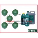 5 Spheres Neuves Pour Citroen Xantia Hydractive IFHS + 5L LHM